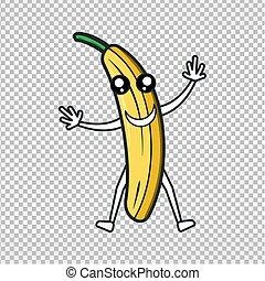 cute banana. happy banana