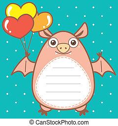 cute bat of scrapbook background