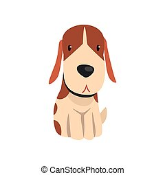 Cute beagle dog animal cartoon character vector Illustration on a white background