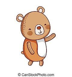 cute bear animal cartoon isolated icon design