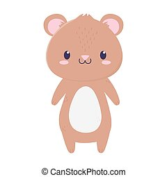 cute bear animal cartoon isolated icon