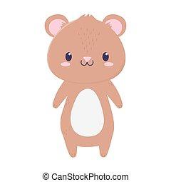 cute bear animal cartoon isolated icon