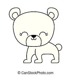 cute bear animal isolated icon