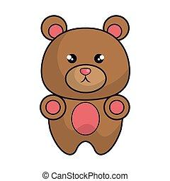 cute bear animal kawaii style