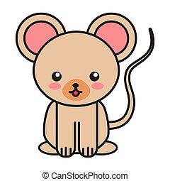 cute bear animal tender isolated icon