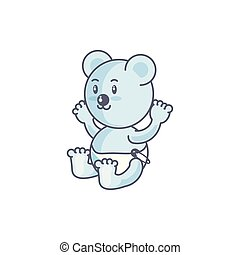 cute bear baby animal isolated icon