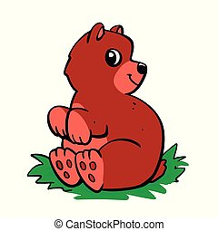 Cute bear brown cartoon