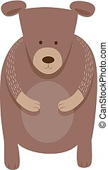 cute bear cartoon animal character