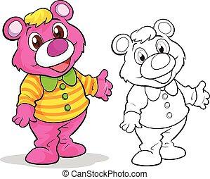 Cute bear cartoon mascot