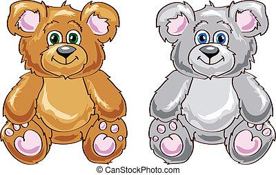 Cute bear cartoon sitting