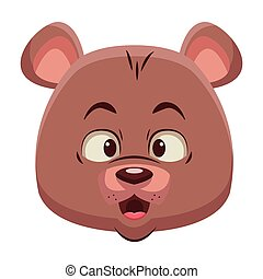 Cute bear cartoon