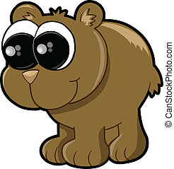 Cute Bear Cub Vector Illustration