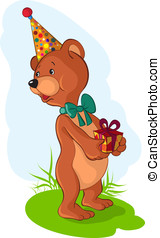 Cute bear for holiday greetings