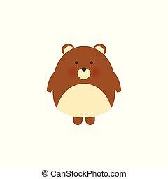 Cute bear, hand drawn vector illustration..Can be used for kids babies shirt design, fashion print design, t-shirt, kids wear, textile design, celebration card greeting card, invitation card.