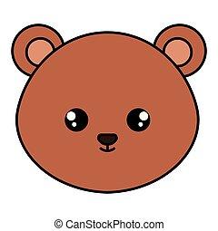 cute bear head character