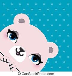 Cute bear head