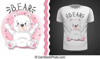 Cute bear - idea for print t-shirt