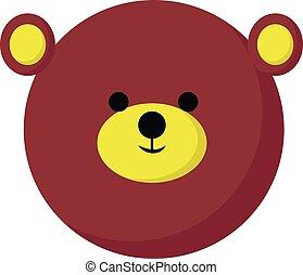 Cute bear, illustration, vector on white background.