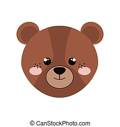 bear isolated icon design