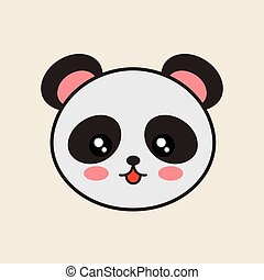 cute bear panda tender isolated icon