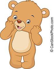 Cute bear standing