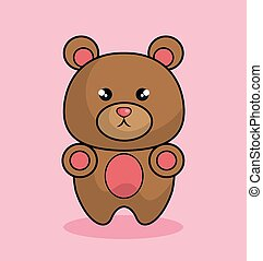 cute bear stuffed icon