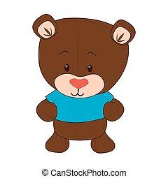 cute bear teddy icon