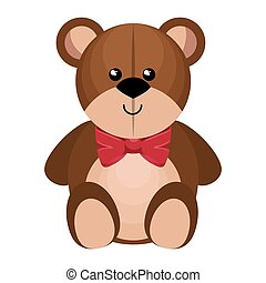 cute bear teddy isolated icon