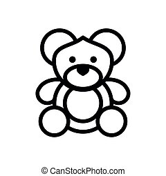 cute bear teddy stuffed character