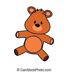 cute bear teddy stuffed icon