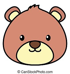 cute bear teddy stuffed icon