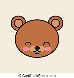 cute bear tender isolated icon