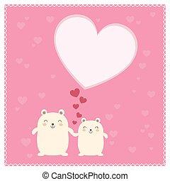 Cute Bears and big heart.
