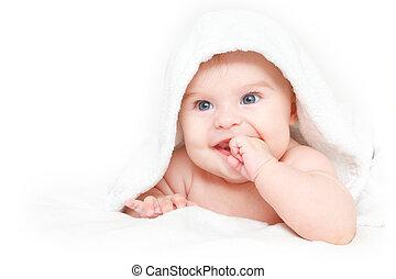 cute, bebê sorridente