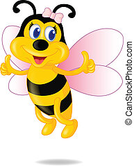 Cute Bee Cartoon