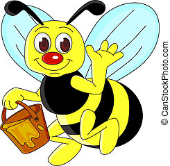 bee cartoon - cute bee cartoon