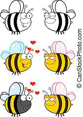 Cute Bee . Set Collection 6