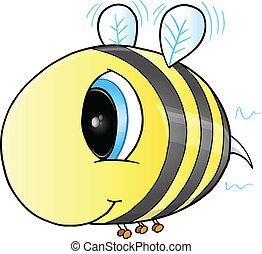 Cute Bee Vector Art