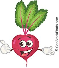 cute beet character. cartoon vector illustration