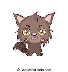 Cute big bad wolf illustration