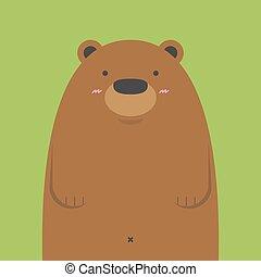 cute big brown bear