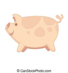 Cute big pig
