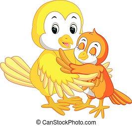 Cute bird cartoon - illustration of Cute bird cartoon