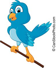 Baby Blue Bird Cartoon