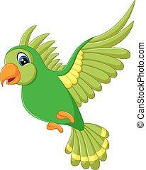 Cute bird flying