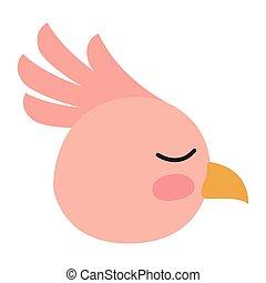 cute bird head icon