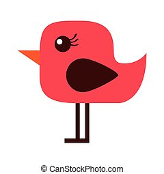 cute bird red icon