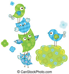 cute birds - cute happy birds for baby boy