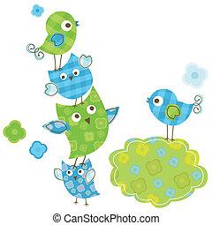 cute birds - cute happy birds for baby boy