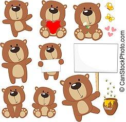 cute, bjørn, teddy